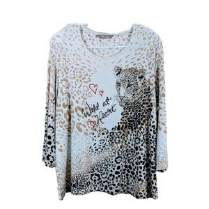 Leopard Blouse - WILD AT HEART (LARGE)